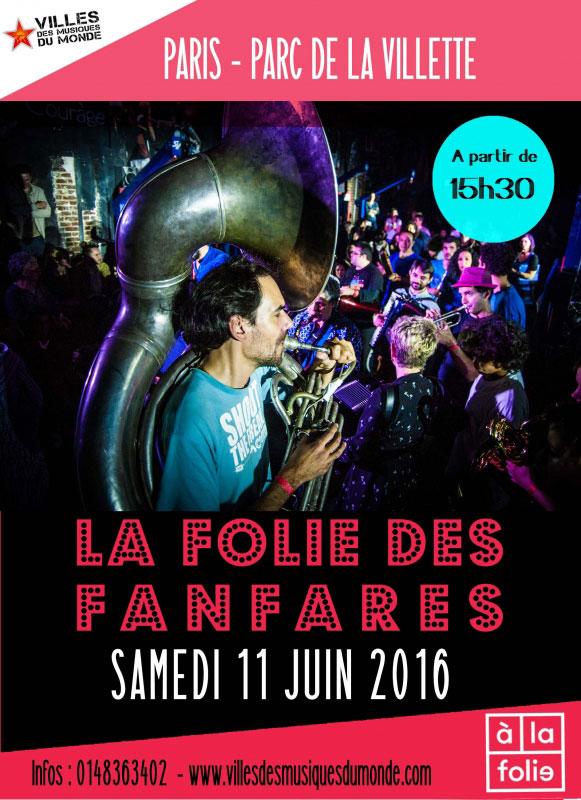 visuel la folie des fanfares 2016 attache de presse culture musique monde claire lextray paris