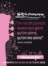 Affiche du Festival nuits de Champagne 2010